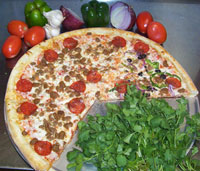 pizza with fresh ingredients